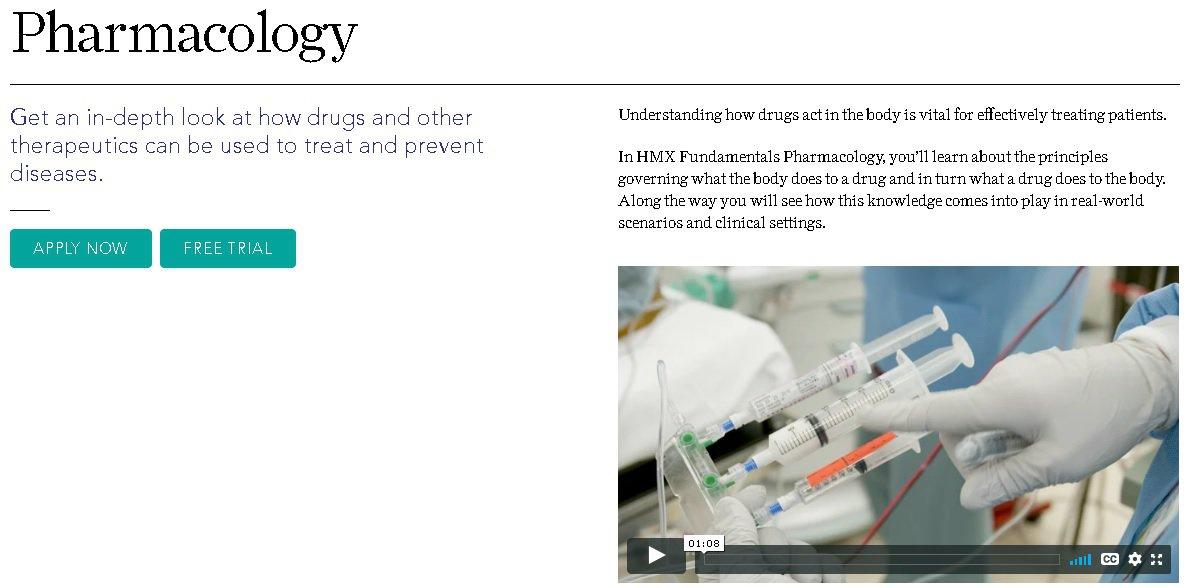 harvard medical school pharmacology course