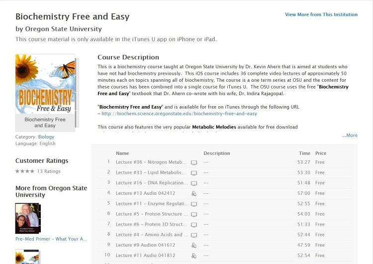 Biochemistry Free and Easy