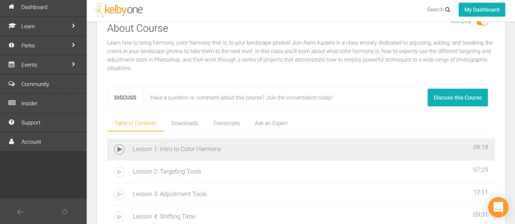 KelbyOne courses