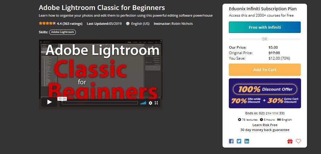 Adobe Lightroom Classic for Beginners