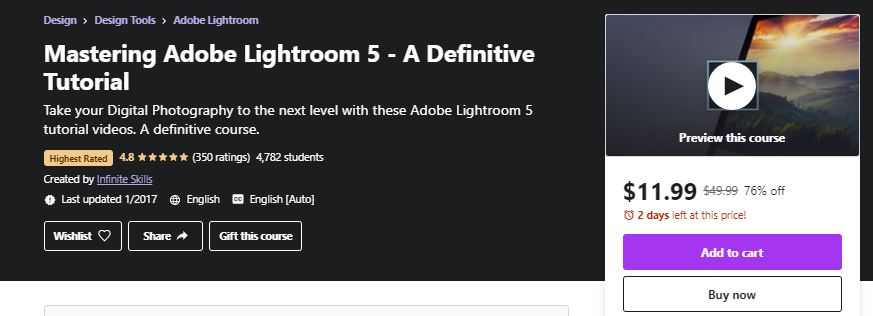 Mastering Adobe Lightroom Course