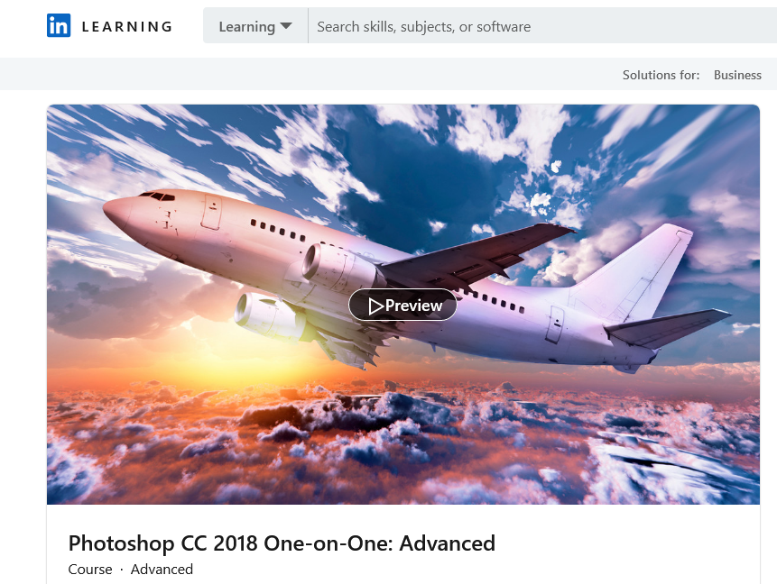 linkedin Photoshop Courses